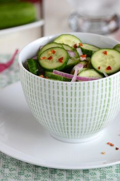 Earth Day 2012: Celebrate the Earth's bounty with this colorful recipe! Sweet & Spicy Cucumber Salad