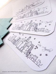 Love these notecards! Los Angeles California  United States  City by ArchitetteStudios