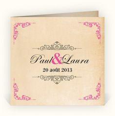 Faire-part de mariage rétro-vintage sur planet-cards.com
