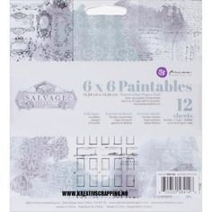PRIMA+-+PAINTABLES+WATERCOLOR+-+SALVAGE+DISTRICT  Papirblokk+fra+PRIMA+MARKETING.+12+SHEETS Prima+Marketing-Tales+Of+You+And+Me+Paintables+Watercolor+Paper+Pad.+Create+fun+watercolor+paintings+with+this+paper+pad!+Use+with+watercolor+pencils,+pastels+and+other+mediums.+This+package+contains+six+6x6+inch+printed+sheets+in+six+designs+and+six+resist+sheets.+Acid+and+lignin+free.