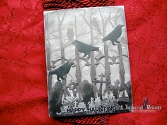 More ravens waiting for Halloween! Gothic Greeting Card