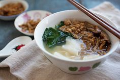 Pan Mee (Hakka Flat Noodle Soup)