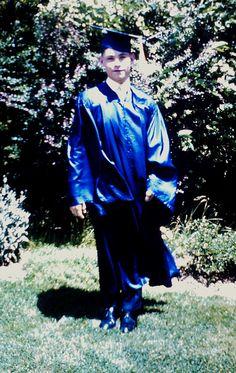 Robert, 8th frade graduation from Holy Family School, Hicksville, LI, NY. June, 1965.