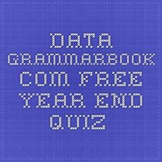 data.grammarbook.com free year-end quiz