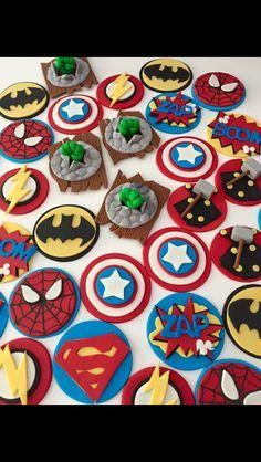Superhero Cupcake toppers