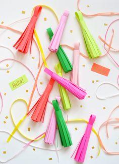 How to Make Paper Tassels | Spark & Chemistry