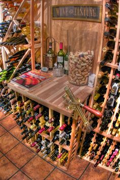 #Wine Cellar.    All they need is some custom monogrammed wine glasses and stemware from Crystal Imagery! http://www.crystalimagery.com