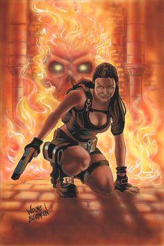 Tomb Raider painting.