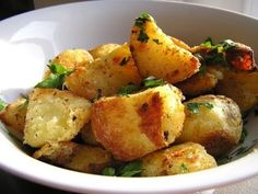 The Olive Tree: Rosemary-Parmesan Oven Roasted Potatoes Georgian Cuisine, Oven Roasted Potatoes, Yukon Gold Potatoes, Parmesan, Potato Salad, Vegetables, Ethnic Recipes, Food, Olive Tree