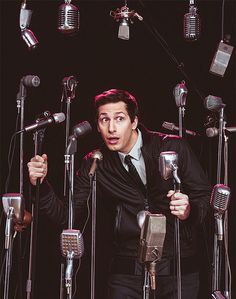 """sambergfans:  """"[Choose] between music and 'acting'? Gosh, I'd probably choose acting, just cos, I'm so, so borderline able to even call myself a musician. Truthfully, I would say, it all falls under the comedy umbrella. It's just using different formats to do the same joke."""" — Andy Samberg, Billboard [x]"""