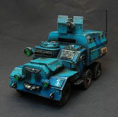 40k - Imperial Guard Armoured Truck (Ork vehicle converted to Imperial Guard), painted by GMM Studio