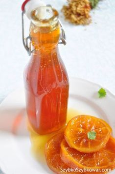 Syrop pomarańczowy deserowy Cooking Recipes, Healthy Recipes, Non Alcoholic Drinks, Beverages, Simple Syrup, Hot Sauce Bottles, Brunch, Food And Drink, Veggies