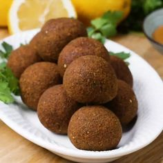 Classic Falafel And Tahini Sauce Recipe by Tasty Clean Recipes, Baking Recipes, Whole Food Recipes, Falafels, Sauce Tahini, Tzatziki Sauce, Feijoada Recipe, Baked Falafel, Vegetarian Recipes