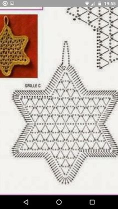 Crochet Snowflake Pattern, Crochet Doily Diagram, Crochet Stars, Crochet Circles, Crochet Snowflakes, Filet Crochet, Crochet Motif, Crochet Doilies, Crochet Stitches