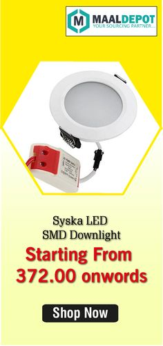Syska LED SMD Downlight-Constant Voltage and Current.Suitable for Offices and Conference Rooms, Homes and Work Tables, Corridors and Galleries, Showrooms and Shopping Malls. Shop at http://bit.ly/2adAFC5 for affordable prices. To place orders,call or whatsapp to 9019156789
