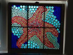 Starfish Glass Mosaic Window by Mosaic Crafts, Mosaic Art, Mosaic Glass, Stained Glass, Mosaics, Seashore Decor, Window Art, Window Glass, Window Ideas