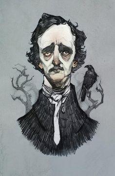 #edgar #allan #poe #goth #love #bird #black #art #illustration