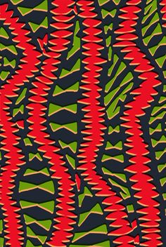 Hand drawn and digital African inspired pattern - Sarah Bagshaw