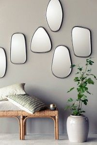 Captivating Funky Mirrors For Hallways Images Design Ideas. Interior Designs Gallery at Mirrors For Hallways Decor, Interior Design, House Interior, Black Mirror Frame, Home, Interior, Mirror Designs, Home Decor, Hallway Decorating