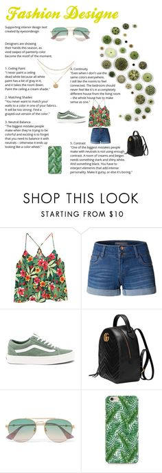 """#just an article😁"" by livia-alexandra on Polyvore featuring beauty, MANGO, LE3NO, Vans, Gucci and Caso"