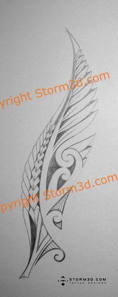 Maori Fern Tattoo: Ferns With Koru #samoan #tattoo