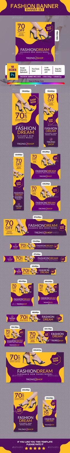Fashion Shoes Banner - #Banners & #Ads Web Elements