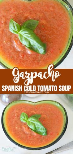 A bright, refreshing cold tomato soup and a no-cook delight! This is the best gazpacho recipe, a summer/fall specialty! #easypeasycreativeideas #soup #souprecipes #coldsoup #tomatosoup #gazpacho #summerrecipes Soup Recipes, Dinner Recipes, Dessert Recipes, The Best Gazpacho Recipe, Gazpacho Soup, Tomato Soup, Easy Peasy, Summer Recipes, Good Food