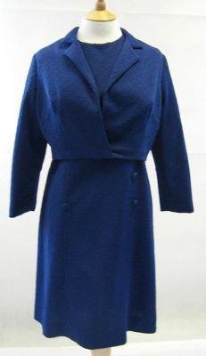 1960s Vintage Blue Shift Dress with Matching Jacket