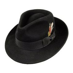 ddd0e6ee12d Jaxon And Jones Crushable C-Crown Fedora - Black from Village Hats. Jaxon  Hats