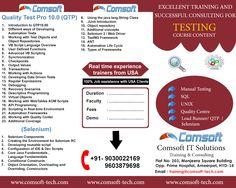 Software Testing (QA)&Test Management using Quality Center & QTP.