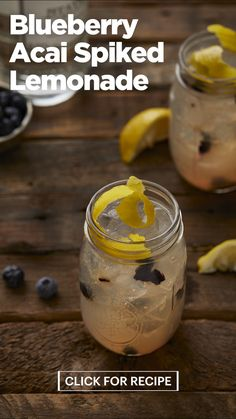 How do you make a classic lemonade cocktail even better? Add V8 +HYDRATE® Blueberry Acai. This recipe gets an exotic flavor twist from aca. Shake up refreshing summer flavors with a batch of Spiked Lemonade crafted by V8. #Sponsored by V8 Booze Drink, Keto Drink, Vodka Drinks, Non Alcoholic Drinks, Fun Drinks, Healthy Drinks, Spiked Lemonade, Lemonade Cocktail, Cocktail Drinks