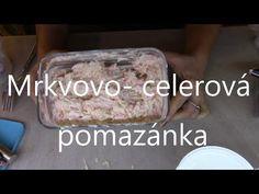 Rychlá Mrkvovo celerová pomazánka - YouTube Youtube, Essen, Youtubers, Youtube Movies