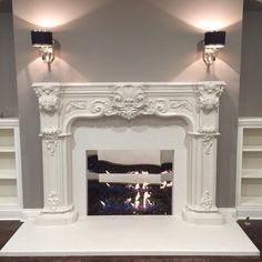 """The Pallas Fireplace Mantel #90 #fireplace #fireplacemantel #interiordesign #interiordesigner"""