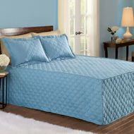 Quilted Diamond Fitted Bedspread - 31589