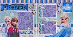 FROZEN-let-it-go-girl-2-PREMADE-SCRAPBOOK-PAGES-paper-piecing-BY-CHERRY