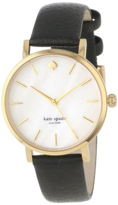 #deal kate spade new york Women's 1YRU0010 Classic Metro Watch with Black Leather Strap