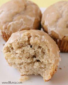 Glazed Donut Muffins Recipe #muffins #donuts