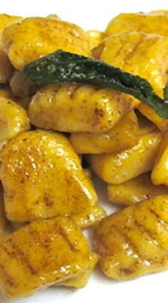 Butternut Squash Gnocchi, finished in a browned butter sauce. Yes, please!