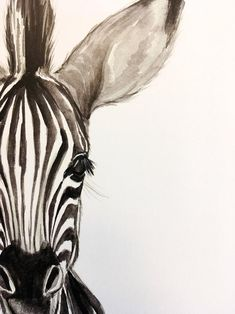 : wasserfarbenkunst watercolor plakat zebra print babyBaby Zebra Watercolor PRINT Baby Zebra Watercolor PRINT Elephant Charcoal Drawing GICLEE PRINT Elephant Decor Elephant Nursery Black and White Art Gift for Her Gift for Mom Artist: Racha Watercolor Animals, Watercolor Print, Watercolor Illustration, Watercolour Painting, Simple Watercolor, Tattoo Watercolor, Watercolor Trees, Watercolor Background, Watercolor Landscape