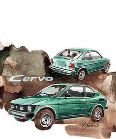 Suzuki Cervo by Yoshiharu Miyakawa Canvas Wall Art, Wall Art Prints, Canvas Prints, Dodge Ram 1500 Accessories, Art Pages, Good Old, Cars And Motorcycles, Classic Cars, Automobile