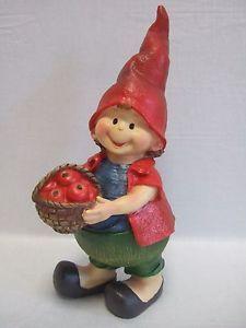 Nain de jardin gnome lutin g ant h 50 cm statue fillette for Decoration jardin caillou