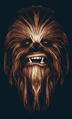 Chewbacca by Patrick Seymour, via Behance