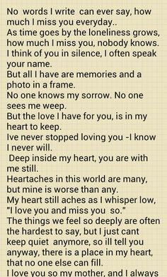poems about mothers death - Google Search