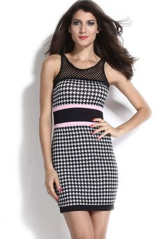 Looking for the perfect Our Wings Sleeve Length Sleeveless O W Womens  Celebrity Dogtooth Print Backless Mini Dress  Please click and view this  most popular ... c68c2ee20e96