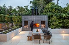 Outdoor fireplace kitchens – EK Series by Escea Fireplaces – Selector Outdoor Wood Fireplace, Gas Fireplace, Fireplace Kitchen, Outdoor Fireplaces, Fireplace Ideas, Outdoor Spaces, Indoor Outdoor, Outdoor Living, Outdoor Decor