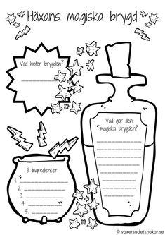 Vi växer så det knakar - Häxans magiska brygd – en övning i kreativt skrivande för barn