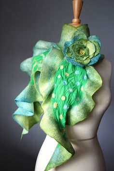 would love it in a darker color - Vital temptation sculpts in fabrics and felt.