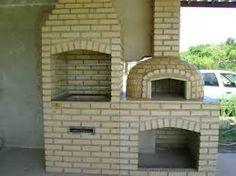Resultado de imagem para modelo de fogão a lenha com chUrrasqUeira e forno