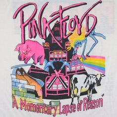 Pink Floyd Shirt Vintage tshirt 1987 A Momentary Lapse Of Rock Posters, Band Posters, Vintage Concert Posters, Vintage Posters, Muro Rock, Cute Wallpaper Backgrounds, Cute Wallpapers, Wallpers Pink, Arte Pink Floyd