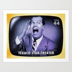 Texaco Star Theater Art Print by Lanjee  http://society6.com/product/texaco-star-theater_print